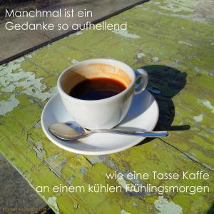 kaffee frühlingsmorgen